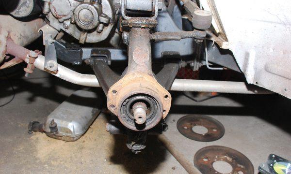 Umbau Scheibenbremse Vorderachse Trabant 124