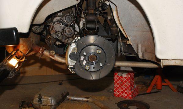 Umbau Scheibenbremse Vorderachse Trabant 131