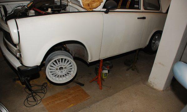 Umbau Scheibenbremse Vorderachse Trabant 132